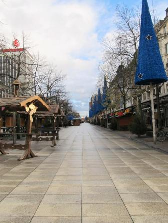 Weihnachtsmarkt zu Weihnachten - Markt zu