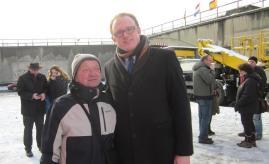 Herr Johann & OB an der Rampe / foto: foto: Anita Bigdeli, J. Tekath
